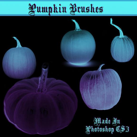 Pumpkin and Jackolantern Brush by dollieflesh-stock