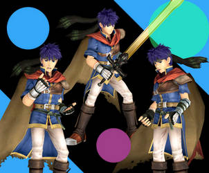 Ike - Smash Bros Brawl (Face Rigged) by RisingAlyx