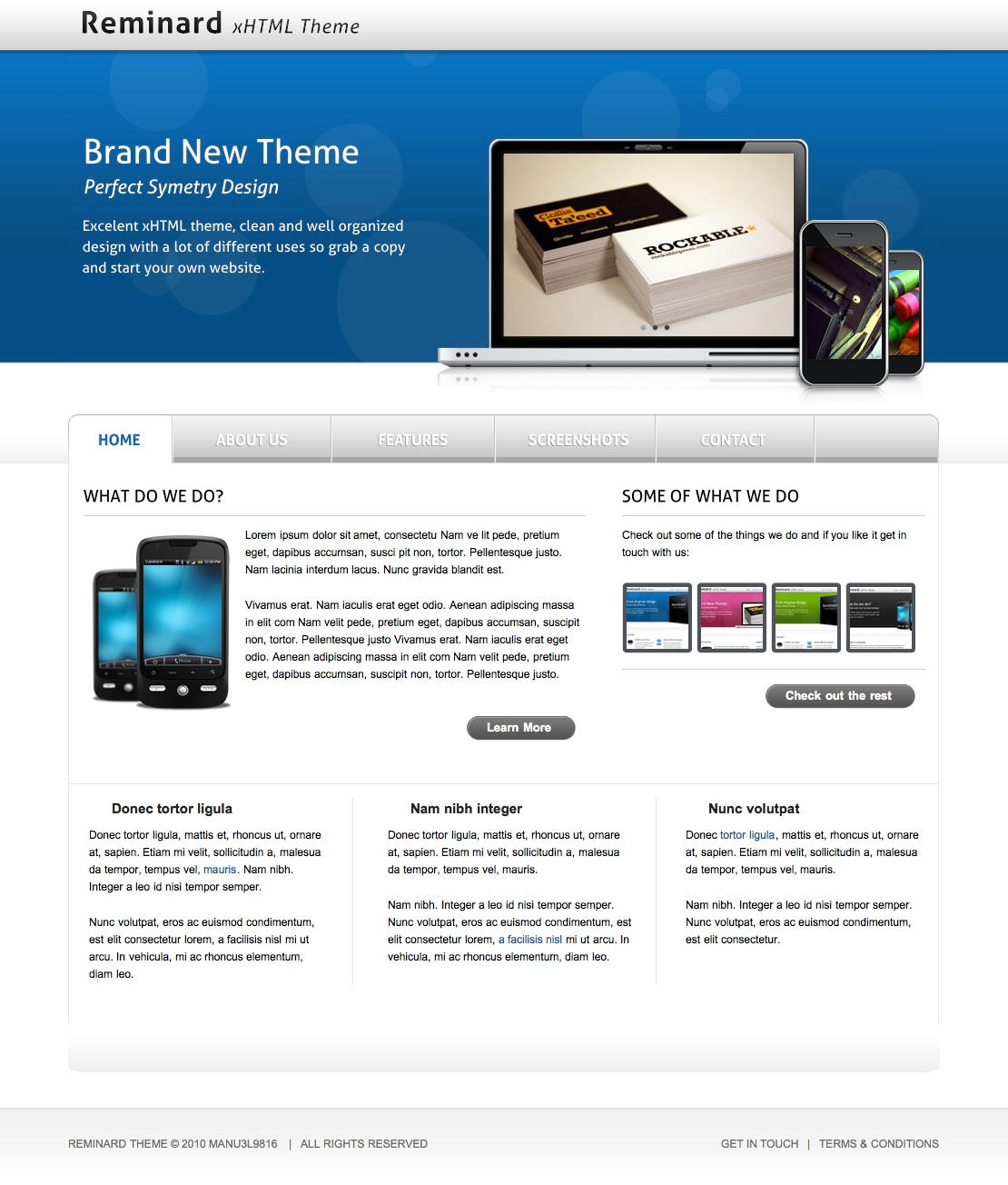 REMINARD Free psd web template by manu3l9816