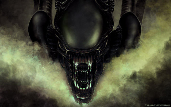 ALIEN front - WALLPAPERS by RoguePL