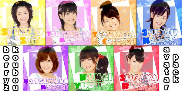 Berryz Koubou Avatar Pack 1 by Mordhel44