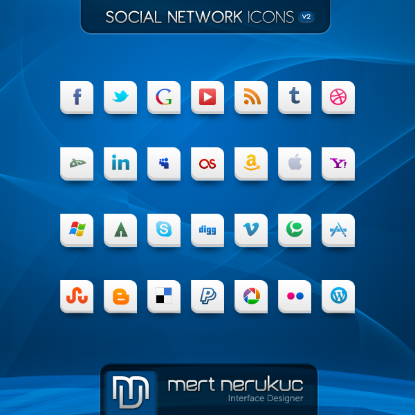 Social Networks Icon Set v2