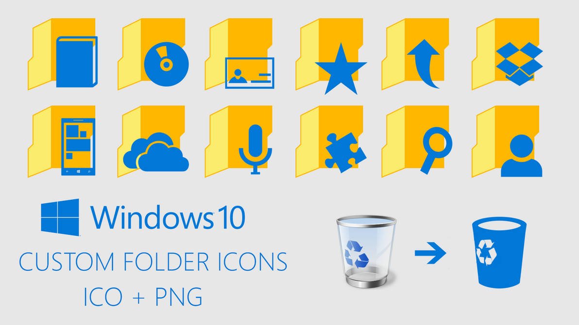 Windows 10 Custom Folder Icons by davidvkimball