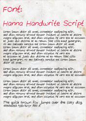 Hanna Handwrite Script by suicidecrew