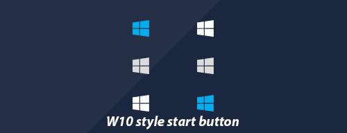 Windows 10 Style Start Button by SirFuriouZ