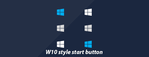Windows 10 Style Start Button by SirFuriouZ