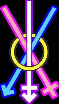 Trans Resistance Symbol Colored Lol
