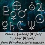 Planet Symbol Brushes