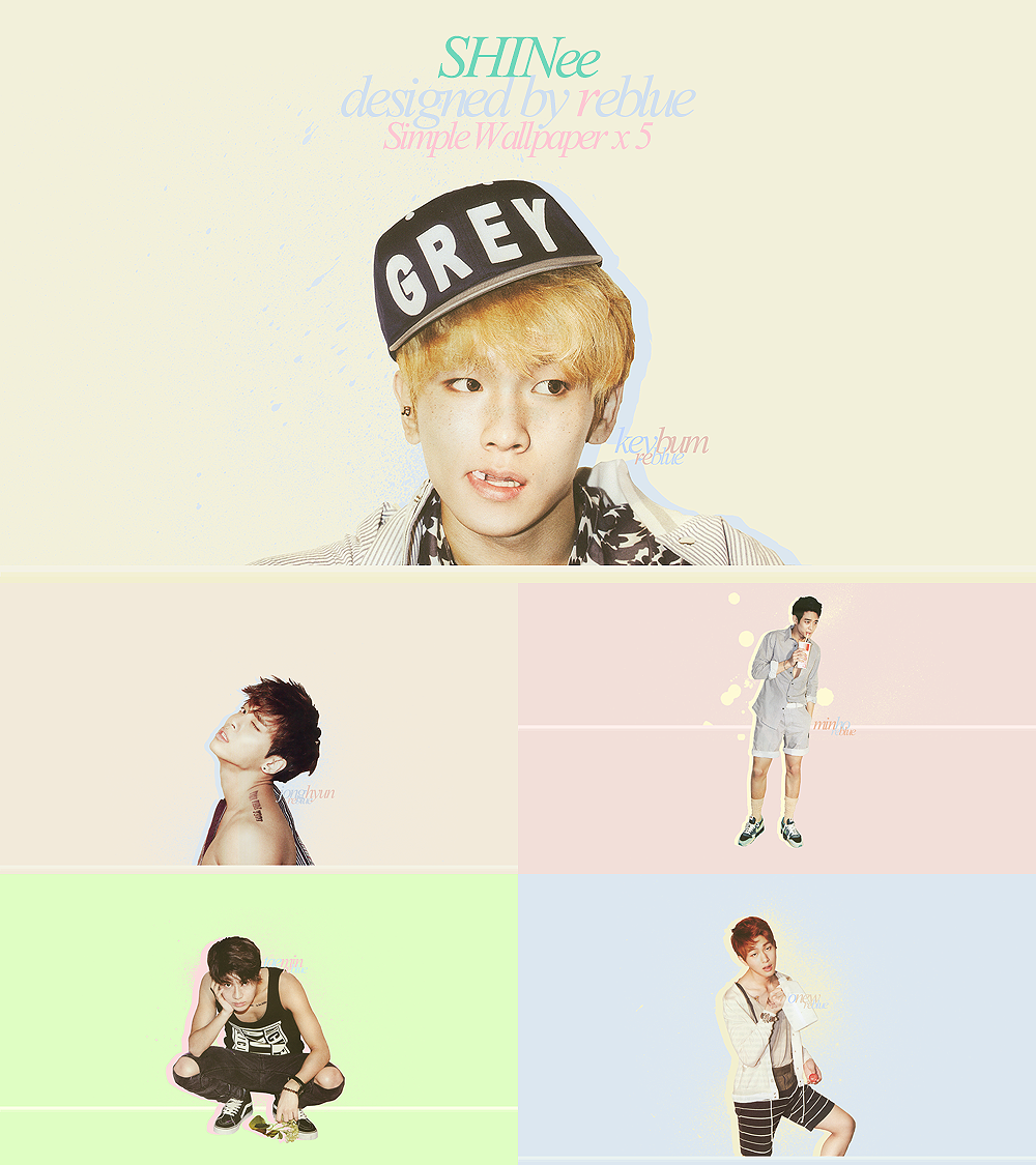 SHINee Dream Girl Simple Wallpaper Set by l0vehcl
