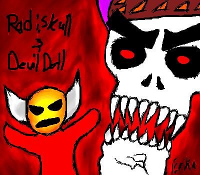 Radiskull and Devil Doll by My-God-Issa-Girl