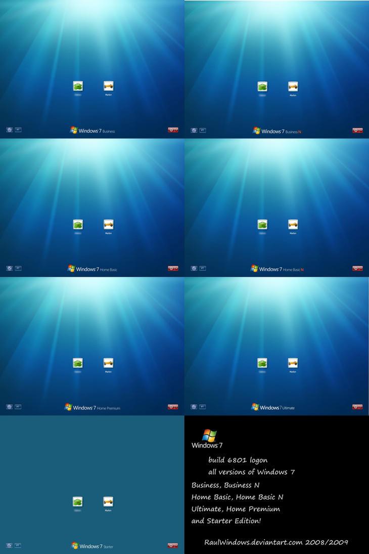 'Windows 7' 6801 logonUI by RaulWindows
