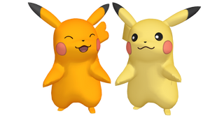 Pikachu MMD 3D Model (eye posable)