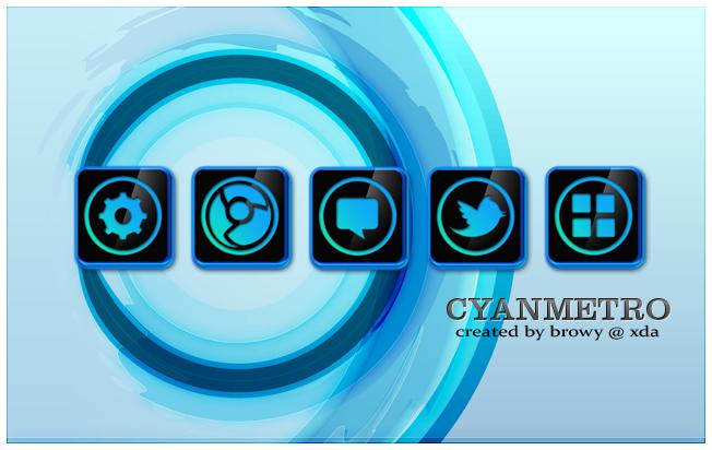 Cyanmetro icons