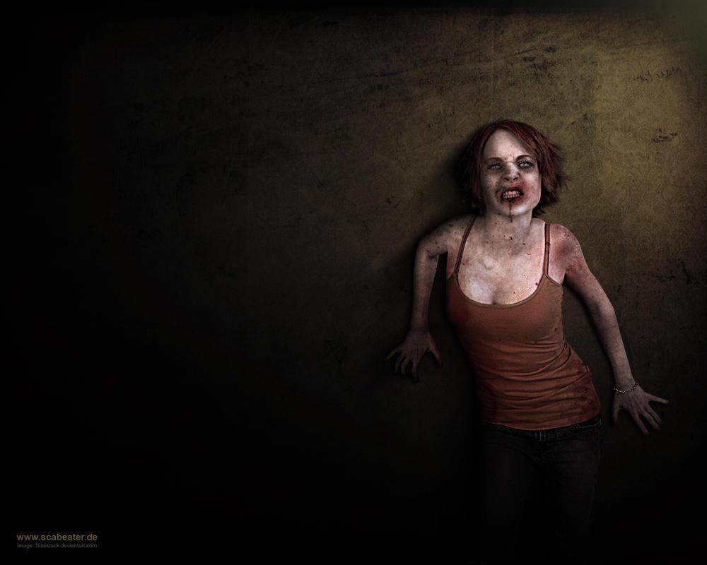Sexy Zombie Wallpaper