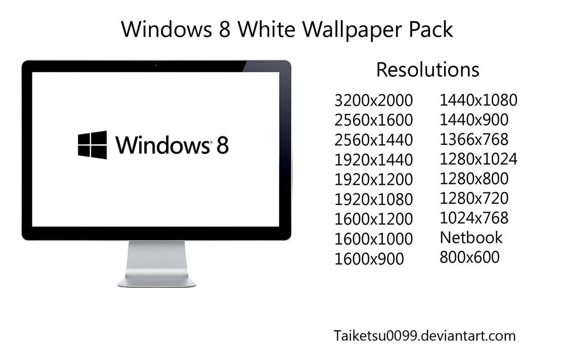 Windows 8 White Wallpaper Pack by Taiketsu0099 by Taiketsu0099