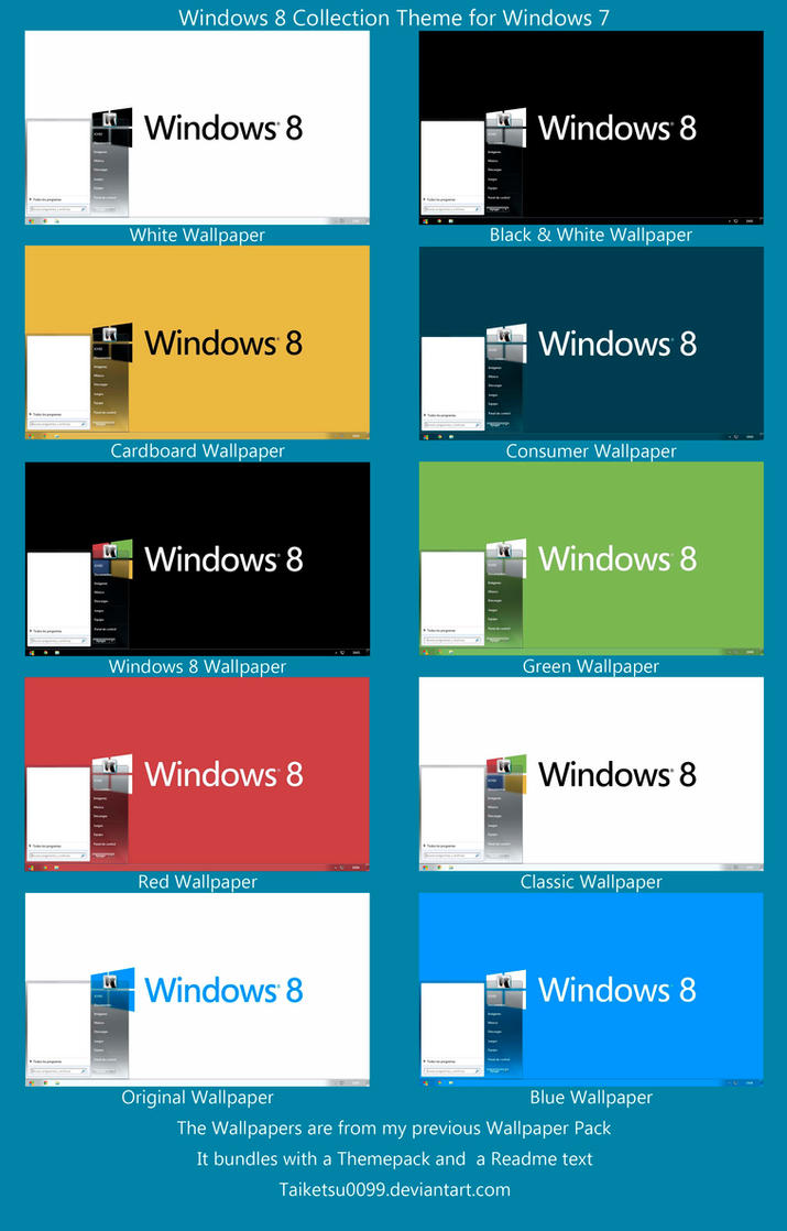 Windows 8 Collection Theme for Windows 7 by Taiketsu0099