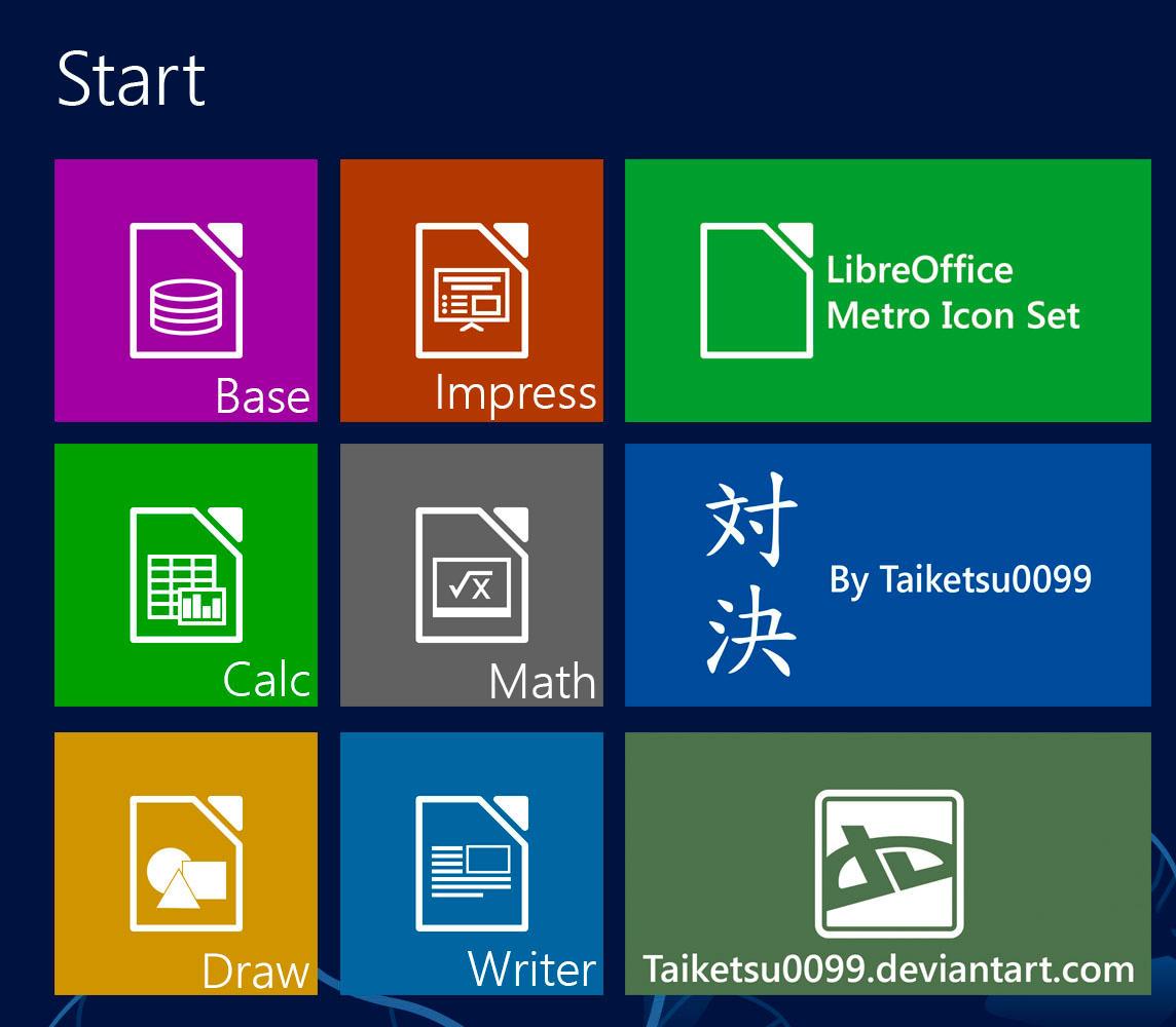 LibreOffice Metro Icon Set by Taiketsu0099 by Taiketsu0099