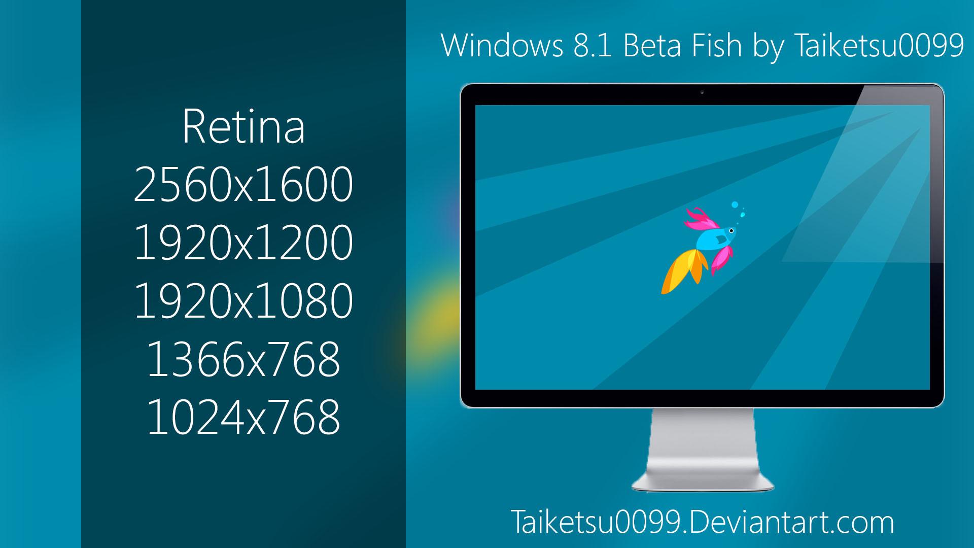 Windows 8.1 Beta Fish by Taiketsu0099 by Taiketsu0099