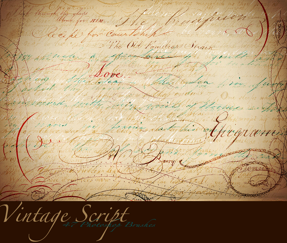 Vintage Script Brush Sampler