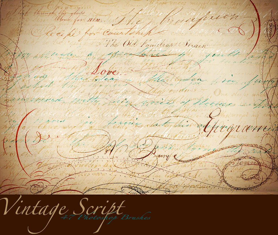 Vintage Script Brush Sampler by asunder