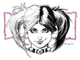 Harley Quinn New 52 Doodle by aethibert