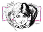 Harley Quinn New 52 Doodle
