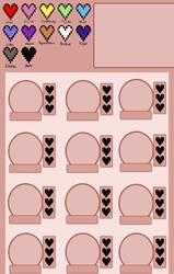 Heart chart sheet template