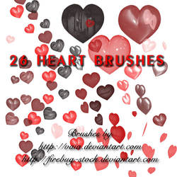 Heart Brushes