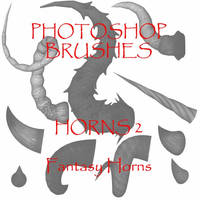 Photoshop CS - Horn set 2 by firebug-stock