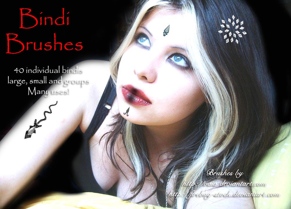 Bindi Brushes by firebug-stock