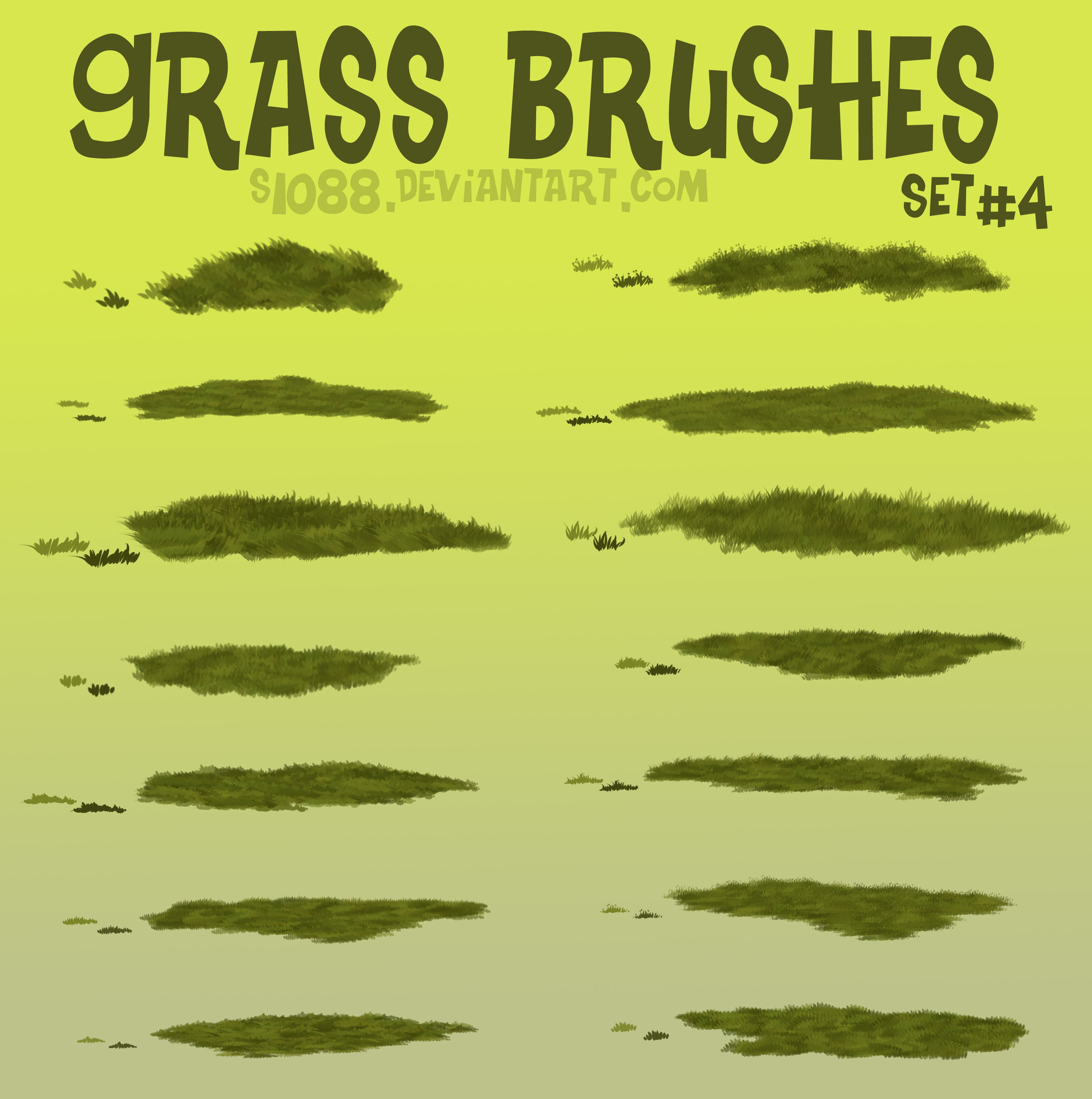 Pay to Use: Grass Brushes #4 by s1088