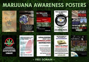 Marijuana Awareness Posters by eternalrabbit
