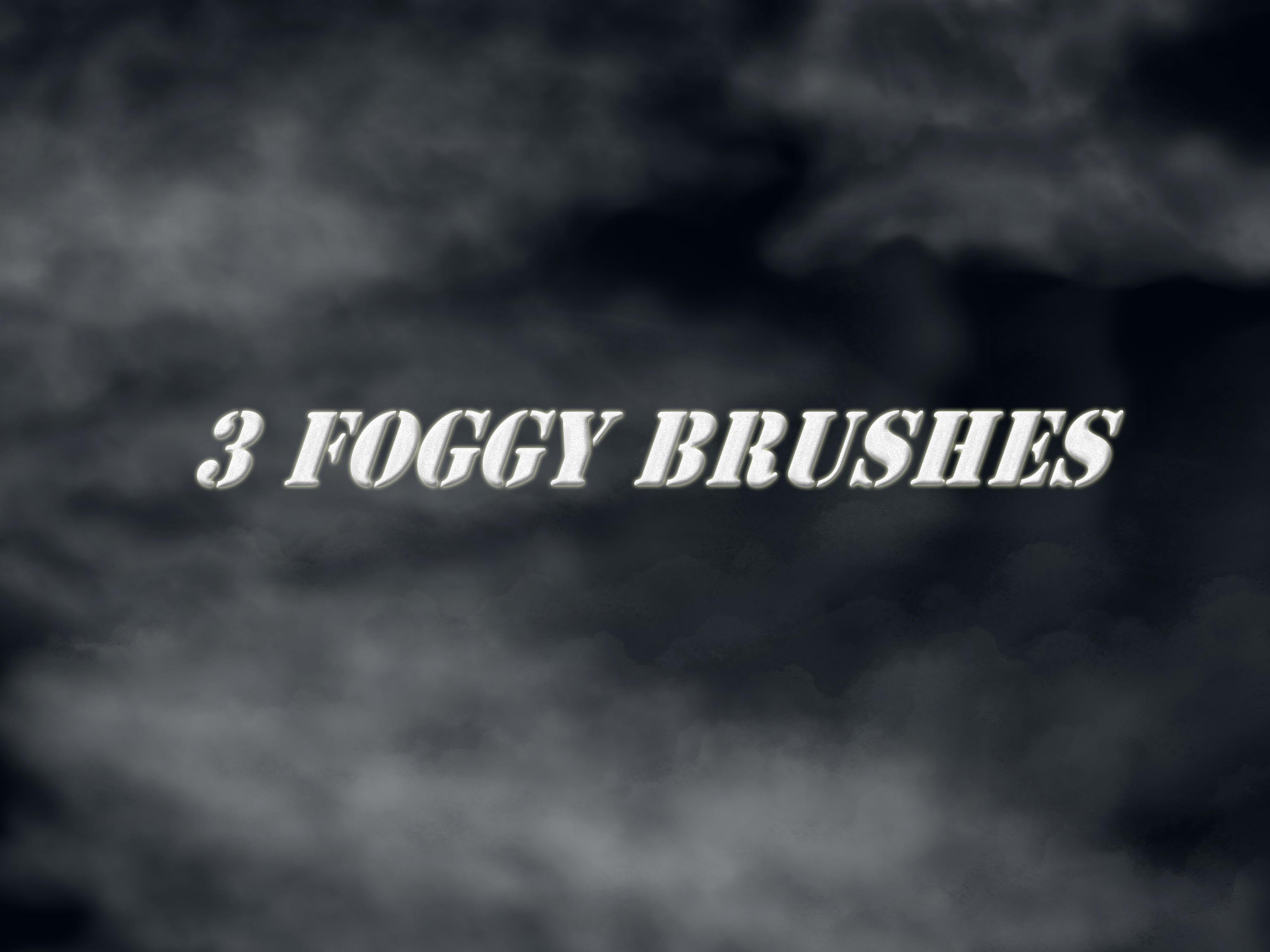 Three Fog Brushes by simfonic