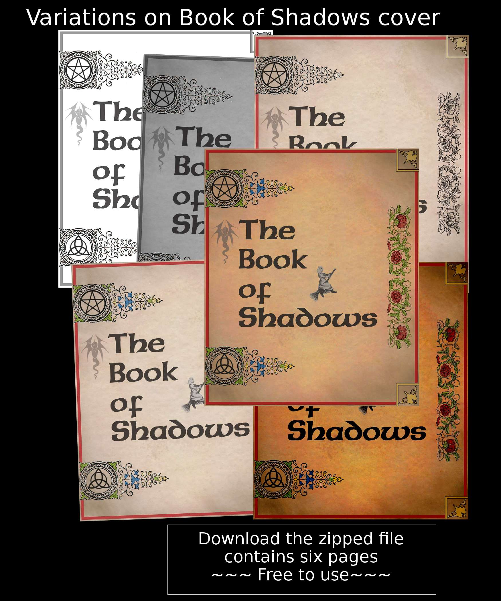 Book of Shadows covers