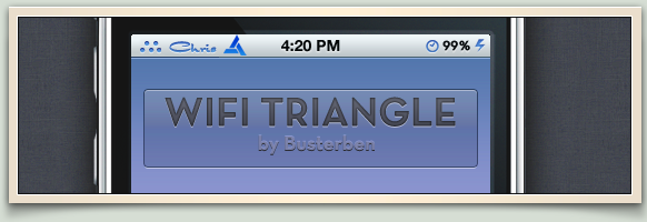 Wifi triangle statusbar icon by Busterben