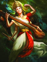 Saraswati by Jessica TC Lee for GODS and GODDESSES by mikephifer