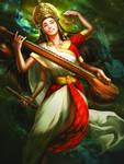 Saraswati by Jessica TC Lee for GODS and GODDESSES