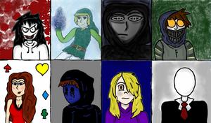 Creepypasta-Behind Closed Doors Character Profiles by abacada123