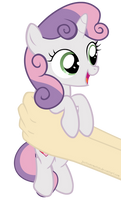 Sweetie Belle on hands (Animation) by JustisAnimation