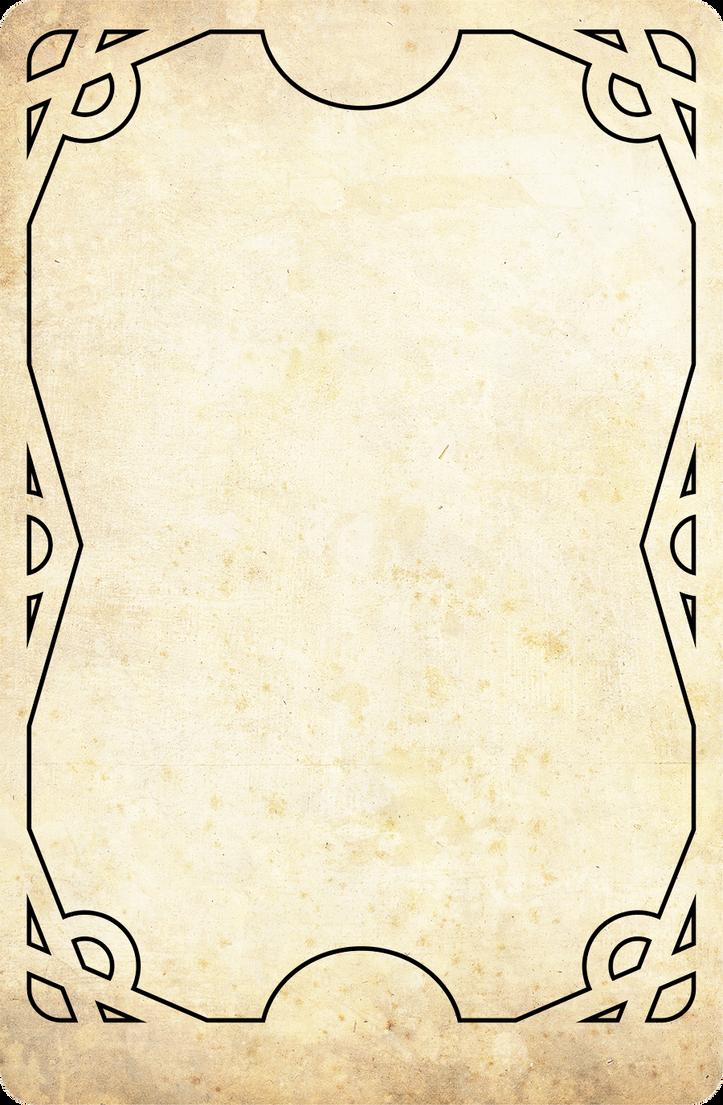 Tarot Rangers Template Card By OnirikWay On DeviantArt - Tarot card template