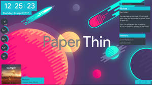 PaperThin - A flat Rainmeter suite
