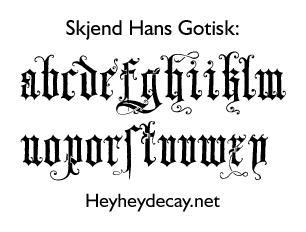 Skjend Hans Gotisk by enframed