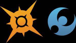 Pokemon Sun and Moon rendered logos