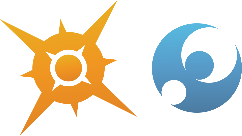 Pokemon Sun And Moon Logo Symbols