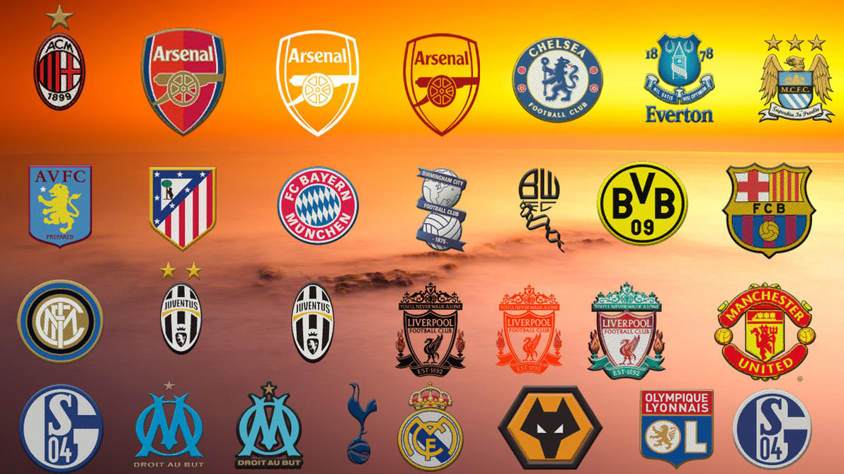 football club logos by decorides on deviantart