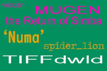 54color limitcode 'Numa' spider_lion MUGEN by BlackrockLegacies