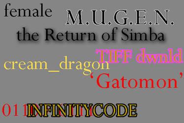 97colors 'Gatomon'  cream dragon MUGEN by BlackrockLegacies
