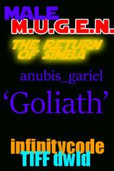 96colors 'Goliath'  anubis_gariel MUGEN by BlackrockLegacies