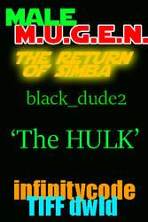 97colors 'The HULK'  black_dude2 MUGEN by BlackrockLegacies