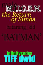 96colors 'BATMAN'  batarang_kid MUGEN by BlackrockLegacies